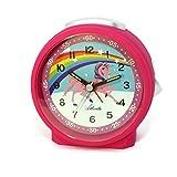 Kinderwecker Einhorn + Radiergummi Mädchen Lernuhr Pink Rosa Analog Licht Snooze - Atlanta 1981-17 RAD hergestellt von Atlanta