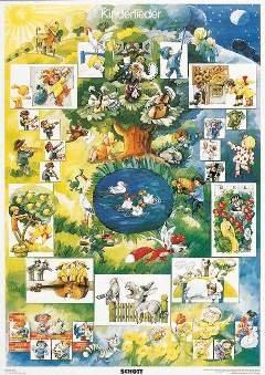 BEKANNTE KINDERLIEDER - arrangiert für Poster [Noten / Sheetmusic] aus der Reihe: MUSIK UND TANZ FUER KINDER - POSTER A1