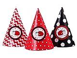 SiDeSo 6 Partyhüte Geburtstag Feier Party Käfer Kindergeburtstag