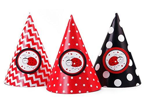 Party- Hüte Marienkäfer 6 Stück (Marienkäfer Hut)