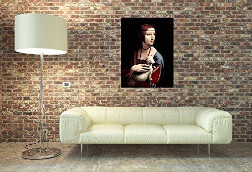 ArtPlaza Da Vinci Leonardo – Portrait of a Lady with Ermine, Dekorative Paneele, Holz, Mehrfarbig, 60 x 1.8 x 80 cm