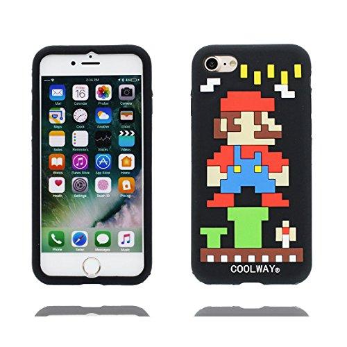 iPhone 7 Custodia, TPU unico progettato morbido paraurti Shell Skin / Cartoon Copertura iPhone 7 4.7 pollici ( 3D pollo chick ), Case Resistente agli urti di polvere Nero 3