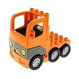 1 x Lego Duplo Fahrzeug LKW orange mit Kabine Zugmaschine Laster Auto Lastwagen Chassis Set Baustelle 4988 4505260 1326c01 4255270 48125c03