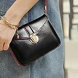 Gemini_mall® Fashion Women Shoulder Bag Tote Messenger Mini PU Leather Crossbody Satchel Handbag (Black)