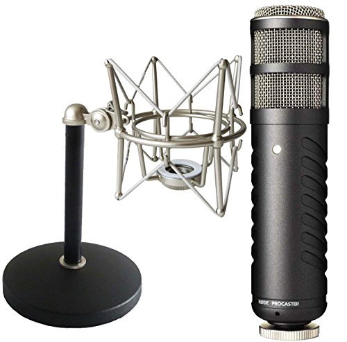 rode-procaster-microphone-with-keepdrum-ms088-spinner-ms032-table-stand