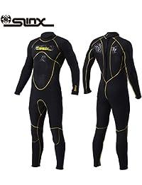 11ab03809e PAWHIT Combinaison Plongée Homme Manches Longues Combinaison Néoprène Surf  Snorkeling Natation ...