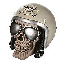 Se le moto sono la tua passione, cosa aspetti? Aggiungi il salvadanaio Motorbiker Skull all'arredamento della tua casa! Starà benissimo tra i tuoi cimeli motociclistici e farà colpo su tutti con il suo design originale. È dotato di fessura pe...