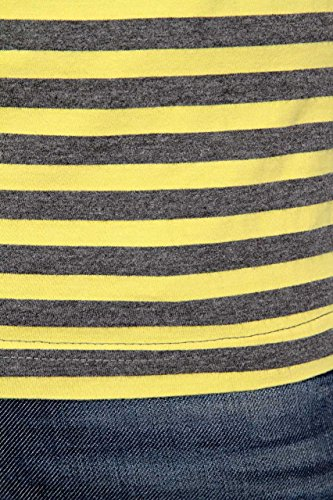Phazz Brand Munich Herren Shirt Motiv T-Shirt ARON, Farbe: Dunkelblau Gelb