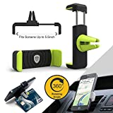 #6: Tukzer Air Vent Universal Car Mount Mobile Holder (Black and Green)