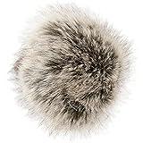 Winter Fellbommel 04024161 styleBREAKER Kunstfell Bommel f/ür M/ützen und Beanies Fake Fur Farbe:Hellgrau