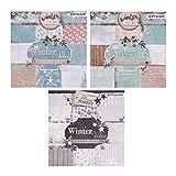 ewtshop® 3 x Motivblock mit je 36 Blättern einseitig Bedruckt, Designpapier,...