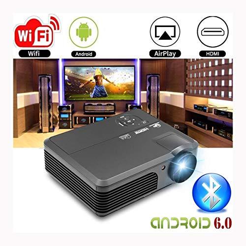 Ai LIFE HD LED drahtloser Filmprojektor mit WiFi Bluetooth 8200 Lumen Digital LCD-Videoprojektor Heimkino Indoor Outdoor mit HDMI VGA AV Audio USB für Smartphone Laptops TV DVD PS4