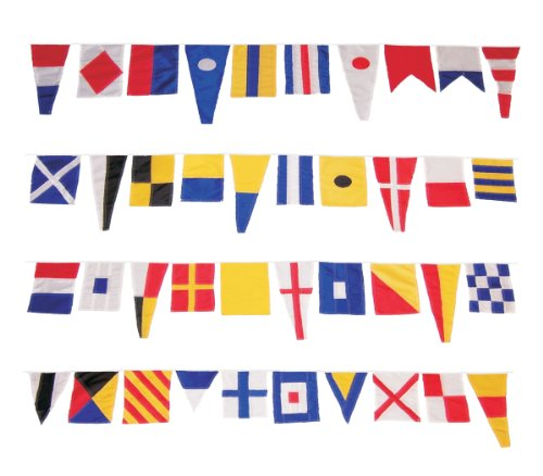 Flag String (In The Breeze Welcome Aboard String Flagge, Maritime Signal Flag String, Pennants: 6 in. W x 10 in. to 15 in. H/S)