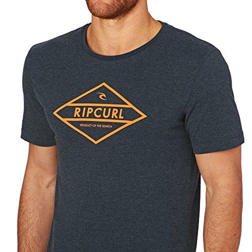 Rip Curl Herren Undertow Diamond Tee T-Shirt MOOD INDIGO