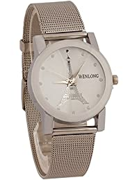 Freny Exim White Dial Eiffel Tower Analogue Metal Strap Wrist Watch For Women And Girls