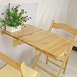 stts Faule Tisch-Holz-Wand-Drop-Leaf-Tabelle, Klappküche Esstisch Kinder Schreibtisch, 70 Zeiten; 45 cm, Weiß, Holz Farbe Sparen Platz,Holzfarbe