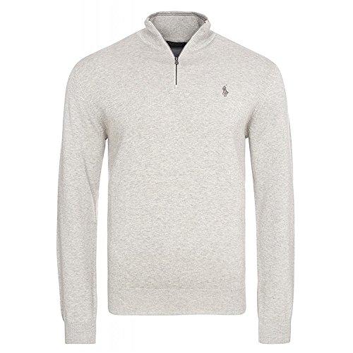 Ralph Lauren - Pullover mit Reißverschluss Hals (L, Grau) (Ralph Lauren Reißverschluss Mit)