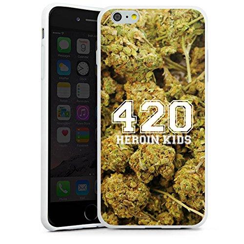 Apple iPhone X Silikon Hülle Case Schutzhülle 420 Weed College Silikon Case weiß
