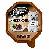 Cesar Hundefutter Landküche mit Pute und Rind in köstlicher Sauce, 12er Pack (12 x 150 g)