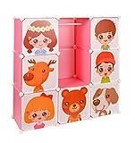 ts-ideen Kinder Kleiderschrank Garderoben Flur Schrank Badschrank Kinderschrank Pink