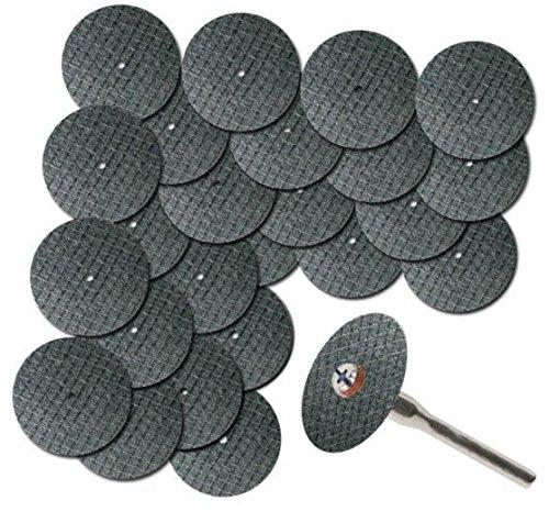 25PCS Power Tools Sägeblatt Fit Dremel Werkzeug Fiberglas verstärkte Trennscheibe Disc W / 1 Mandrell 1/8
