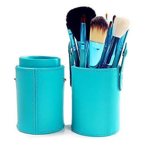 XUAN 12 PCs maquillage pinceau barillet installé pinceau poudre de fibre rose , green