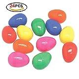 Huevos de pascua brillante de plástico Surtido de artículos con color de fiesta para la caza de Pascua 24 paquetes