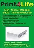 200 Blatt Glossy glänzendes Fotopapier 10,2cm x 15,2cm ( 4x6 Zoll ) 240g /m². Das Fotopapier ist perfekt geeignet für fotorealistische und digitale Ausdrucke mit brillianter Farbwiedergabe