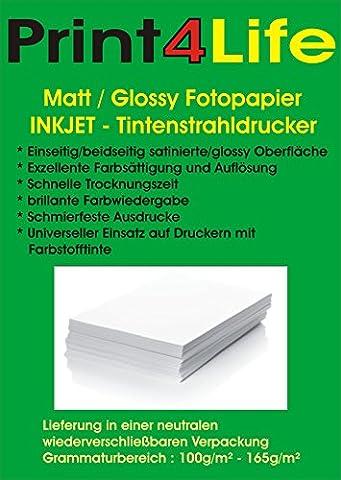 100 Blatt spezialbeschichtet Fotopapier MATT beidseitig 140g /m² DIN A4; Imaging Papier doppelseitig 140 ; Mattes Fotopapier für hochwertige doppelseitige Ausdrucke. • Grusskarten • Fotoausdrucke • Berichte • Zertifikate • Prospekte