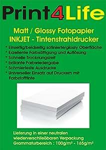 1000 feuilles de papier photo de qualité avec revêtement spécial sur une feuille A4 côté Matt 165g; Imagerie papier 165, papier photo mat de haute qualité des impressions recto. • impressions photo • Rapports • Certificats • Brochures