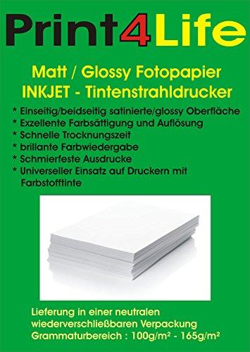 Preisvergleich Produktbild 200 Blatt Glossy glänzendes Fotopapier 10,2cm x 15,2cm ( 4x6 Zoll ) 240g /m². Das Fotopapier ist perfekt geeignet für fotorealistische und digitale Ausdrucke mit brillianter Farbwiedergabe