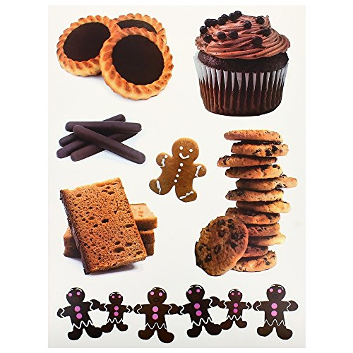 Planche-Lot-7-Stickers-Deco-Gourmand-Monsieur-Biscuit-Cookies-Chocolat