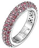 ESPRIT Collection Damen-Ring 925 Sterling Silber rhodiniert Kristall Zirkonia amorbess berry rosa