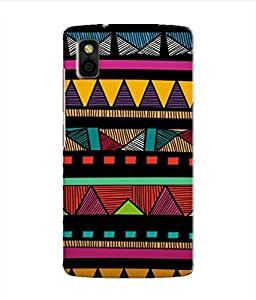 Kaira High Quality Printed Designer Soft Silicon Back Case Cover For Panasonic T44(linepattern)