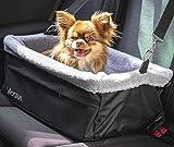 Vicera Hunde Autositz für Beifahrersitz & Rückbank Hundesitz Auto für kleine und mittlere Hunde & Katzen Wasserdichter Hundekorb mit Kissen und Sicherheitsgurt