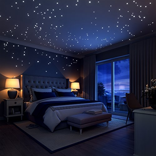 rs, 252 Punkte und Mond für Sternenhimmel, perfekt für die Kinder Betten Zimmer Geschenk, Beautiful Wall Aufkleber von liderstar, Delight The One You Love (Glow In The Dark-dekorationen Für Raum)