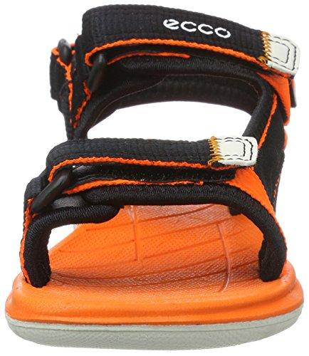 Ecco Unisex-Kinder Intrinsic Lite Sandalen, Schwarz (50567BLACK/Orange Neon), 31 EU -