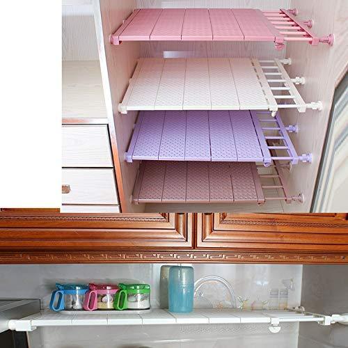 Reuvv - armadio con scaffali regolabili, con montaggio a parete, estensibile, salvaspazio, bianco, 39-60cm