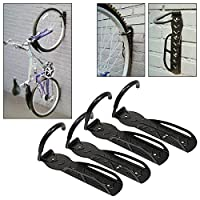 Tooltime® Pack of 4 Wall Mountable Space Saving Cycle Bike Storage Hooks -