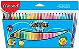 Maped Color'Peps long life Medium Multicolour Felt Pen–Felt Pens (Medium, Multicolour, Multicolour, Round, 24Colours)