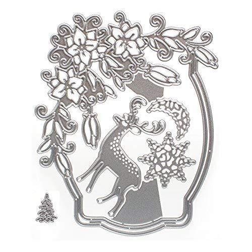 b-sin DIY Silber Scrapbooking Metall Formen Crafts Dekoration Weihnachten DIY Scrapbook Album Papier Karte Christmas Eve (Masse Weihnachten Ornamente In Der)