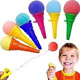 German Trendseller® - 6 x Eis Cream - Party Shooter - für Kinder ┃ Kindergeburtstag ┃ Super Schusskraft ┃ Mitgebsel ┃ Pooper ┃ 6 x Eis Cream