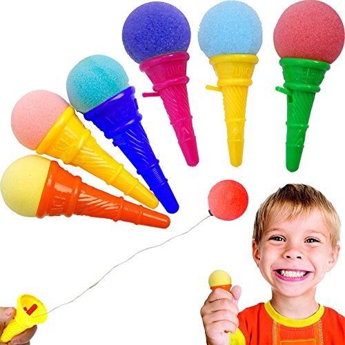 German Trendseller® - 6 x EIS Cream - Party Shooter - für Kinder ┃ Kindergeburtstag ┃ Super Schusskraft ┃ Mitgebsel ┃ Popper ┃ 6 x EIS Creme