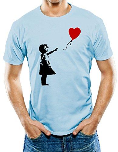 maikeer Men's Banksy Girl Graffiti Art T-Shirt