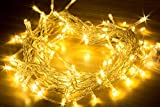 Fairy Lights 100LED Warm White 10M String Lights-Battery Operated-Operated for Indoor and Outdoor Use