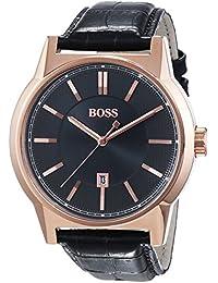 Hugo Boss Herren-Armbanduhr Analog Quarz Leder 1513073