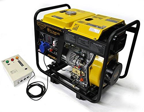 Generatore di corrente 6 kw diesel - gruppo elettrogeno avviamento elettrico automatico ats