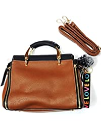 Trendy Designed Leatherette Bag With Detachable Sling Belt And Fashion Accessory