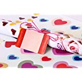 UberLyfe Heart Printed Gift Wrapping Paper Sheet With 15 Gift Tags - Set of 10 (24.5 inch x 17.5 inch) - (GW-001724-HEARTS_BIG)