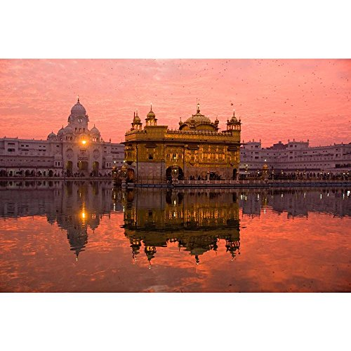 ArtzFolio Golden Temple Amritsar India - Large Size 27.0 inch x 18.0 inch - FRAMED CANVAS Wall Paintings with 1 inch THICK WOODEN STRETCHING MOUNT : DIGITAL PRINT Wall Posters Art Panel like Hand Paintings : Home Interior Wall Décor Photo Gifts & Decorative Paintings for Bedroom, Living Room, Drawing, Dining Room, Kitchen, Office, Reception, Bathroom, Outdoor, Gallery, Hotels, Restaurants, & Balcony : Places, Religious : Photography  available at amazon for Rs.2569